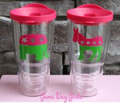 Preppy Political Tervis Tumblers on Etsy, $30.00