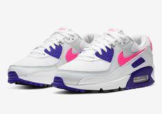 The Womens Nike Air Max 90 Dark Concord Arrives Soon Air Max 90, Nike Air Max For Women, Nike Women, Air Max Sneakers, Sneakers Nike, Nike Kyrie, Shades Of White, Jordan 11, Air Jordans