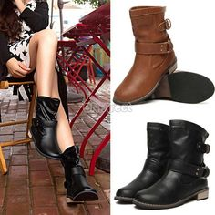 2014 High Quality Women shoes Fashion-Mid-Calf Flat Heel British Driving Short Boots