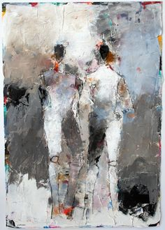 Figures 2 No. 95, mixed media, 22 X 15 on paper, available at Selby Fleetwood Gallery, Santa Fe, NM