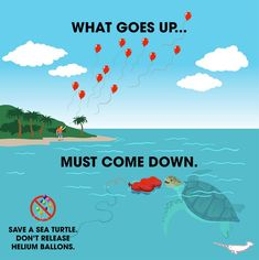 Balloons are pollution. Like everything else that's pollution, we shouldn't use them in excess. Save Planet Earth, Save Our Earth, Love The Earth, Save The Planet, Our Planet, Videos Kawaii, Save Environment, Environment Painting, Save Mother Earth