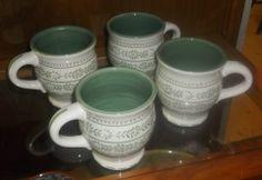 Merriweather Coffee Mugs ~ Green band around center