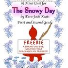 Snowy Day Freebie  Winter - Snow - Math - Skip Counting  Color, Cut and Write & Art Project