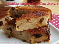 Cuisine antillaise - le pudding parfumé à l'antillaise