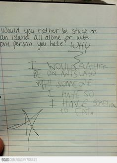 I'm not sure whether I should be scared for the future, or extremely happy that a kid wrote this..