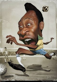 http://tiagohoisel.cgsociety.org/art/pele-photoshop-caricature-soccer-pel-king-2d-819964