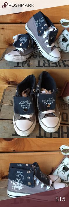 Kid's Beverly Hills Polo Club high tops Beverly Hills Polo Club high tops in very good used condition. Gray and navy in euro size 31, US size 13 Beverly Hills Polo Club Shoes Sneakers