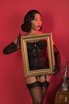 88b5b097837 Glamorous Contrast Seamed Stockings inspired by the 1940s and 1950s. WkdWhat  Katie DidGarter Belt ...