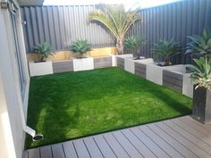 Synthetic Lawn for Perth's Back Yards - All Seasons Synthetic Turf - Artificial synthetic grass in Perth, Rockingham and Mandurah Artificial Grass Ideas Small Gardens, Artificial Turf, Synthetic Lawn, Small Backyard Landscaping, Backyard Ideas, Outdoor Gardens, Courtyard Gardens, Garden Design, Fake Grass