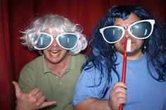 Photo Booth Rental - My brother and I having a blast