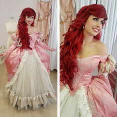 "Cosplay Costume Traci Hines ""A Part of Your World"" Music Video Disney Cosplay, Ariel Cosplay, Mermaid Cosplay, Diy Disfraces, Halloween Disfraces, Amazing Cosplay, Best Cosplay, Big Twist Braids Hairstyles, Red Hair On Dark Skin"