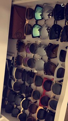 Nicole Guerriero's sunglasses collection.