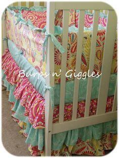 Custom Baby Crib Bedding Set..Crib Bumper by LittleBurpsnGiggles, $239.00