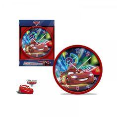 Disney Cars, Verdák falióra, 25 cm - Mesenet Disney Cars, Led