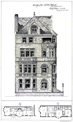 Design for an urban residence on a corner lot (http://www.pdmpantiqueprints.com/store/By-Subject-Architecture-Contemporary-Homes/Design-for-City-House-for-corner-lot/prod_2257.html)