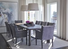 Dining room, Private Villa - Designed by Norwegian Interior Architect firm Metropolis arkitektur & design - www. Dining Bench, Dining Chairs, Dining Room, Villa Design, Decoration, Interior, Furniture, Home Decor, Projects