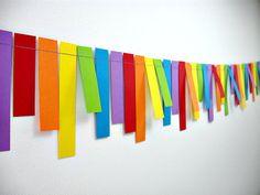 Rainbows Fringe 6ft. Garland Rainbow Birthday di BeeBuzzPaperie