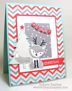 wee inklings: TSOT 276 Foxy Christmas - SU - Christmas, Foxy Friends, Holly Jolly Greetings, Labeler Alphabet, Stampin Up, Try Stampin on Tuesday