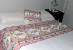 Pastel Panache Bed Runner and Pillow - Quilting Digest