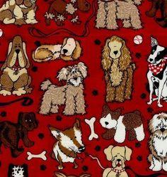 Tecido Importado para Patchwork Dogs - Robert Kaufman