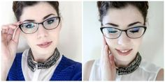 Makeup tricks for girls with glasses Hair Tips, Hair Hacks, Makeup Tricks, Girls With Glasses, Fashion, Make Up, Moda, Fashion Styles, Make Up Tricks