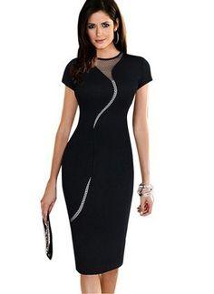 607836f5a129 Las 20 mejores imágenes de vestido en 2017 | Blusa, Escote y Falda recta