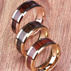 The silver tungsten carbide ring with wood inlay ring has Top quality and is a real tungsten ring with real Koa wood inlay. The comfort fit, which is hypoallergenic and scratch resistant, make it very comfortable to wear. This ring is a vintage style. Unusual Wedding Rings, Celtic Wedding Rings, Custom Wedding Rings, Wedding Ring Designs, Wedding Rings For Women, Wedding Ring Bands, Wedding Jewelry, Platinum Wedding Rings, White Gold Wedding Rings