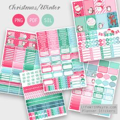 Free  Printable Christmas Wishes Planner Stickers {PDF, PNG and Silhouette files} from lifewithmayra