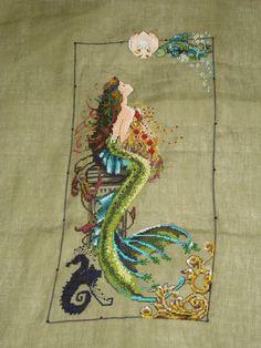 Mermaid embroidery (cross stitch)