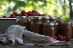 Canned Tomato Sauce with a slow cooker www.CubitsOrganics.com