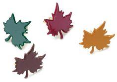 Painted Metal Paper Fasteners 50/Pkg-Fall - Leaves