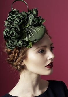 Rachel Trevor - Morgan Millinery, A/W 2014. #millinery #judithm #hats The flowers look like a mass of curls. I like it.