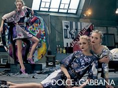 dolce gabbana spring 2008 campaign3 Throwback Thursday | Gemma, Jessica + Lily for Dolce & Gabbana Spring 2008 Campaign