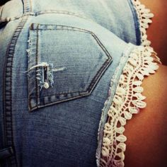 lace on shorts to make them longer. (curse long legs) DIY shorts
