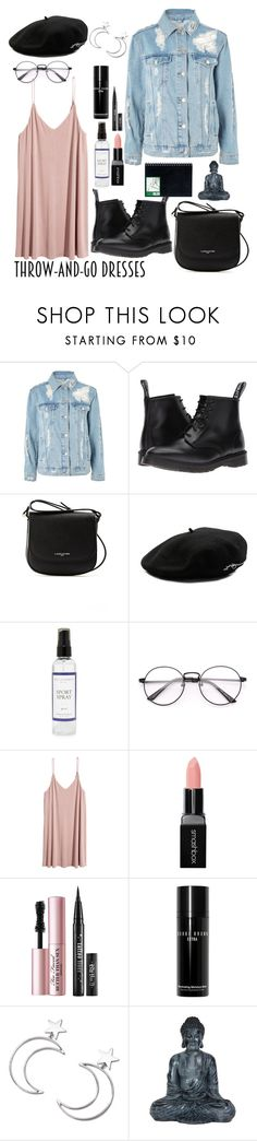 """""""Throw and go."""" by monydepaix ❤ liked on Polyvore featuring Topshop, Dr. Martens, Lancaster, Larose, The Laundress, H&M, Smashbox, Too Faced Cosmetics, Bobbi Brown Cosmetics and Ana Accessories"""