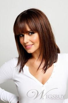 Pretty Long Straight Dark Red Auburn About 13 Inches Hair Wig