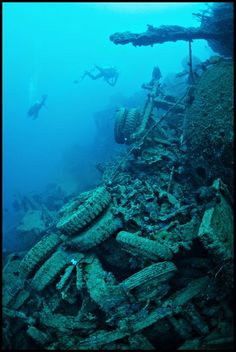 Just off the coast of Espírito Santo, an island in the Vanuatu archipelago of the South Western Pacific, there is a massive underwater dump. Called Million Dollar Point after the millio