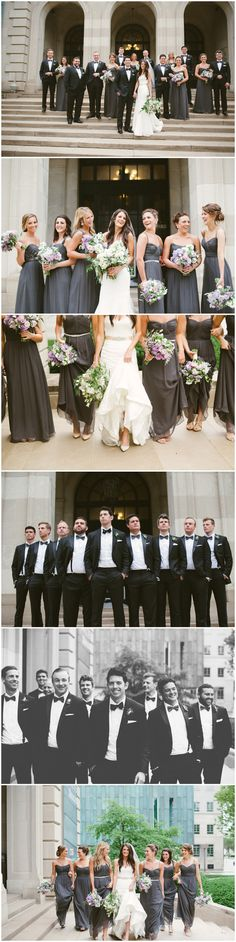 Bridal Party Portraits. Columbus Ohio Wedding Photography. Ashley West Photography.