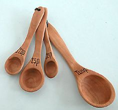 Wood Measuring Spoons...just a thought