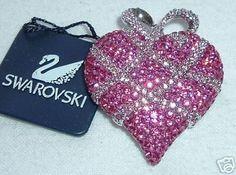 Swarovski limited Edition heart 2004 pink pin Rare