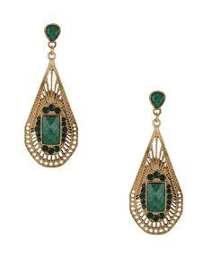 drops of emeralds earrings.