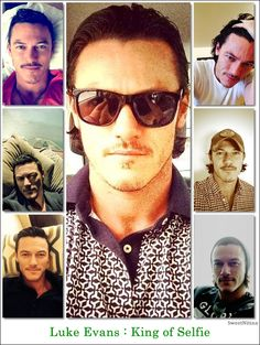 Luke Evans, The King of Selfies!!!!!!!