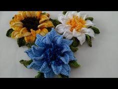 Crochet Fruit, Crochet Leaves, Crochet Flowers, Hand Embroidery Patterns Flowers, Flower Patterns, Crochet Patterns, Crochet Brooch, Crochet Flower Tutorial, Bracelet Patterns