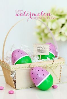 Have some fun this spring with these DIY Watermelon decorative eggs