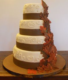 Fall Wedding cake. But square.