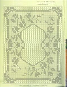 Filet Crochet chart, would look good as a vintage looking photo frame.