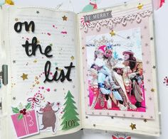 December Daily, Diy And Crafts, Paper Crafts, Christmas Scrapbook, Book Projects, Studio Calico, Mail Art, Smash Book, Altered Books