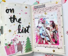 """Y aquí de nuevo para enseñaros las últimas páginas del reto """"12 meses, un project book"""" El tema propuesto para este último reto es la Navidad. Para finalizar este proyecto y de alguna f…"""