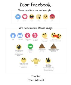 I made some more Facebook reactions - The Oatmeal