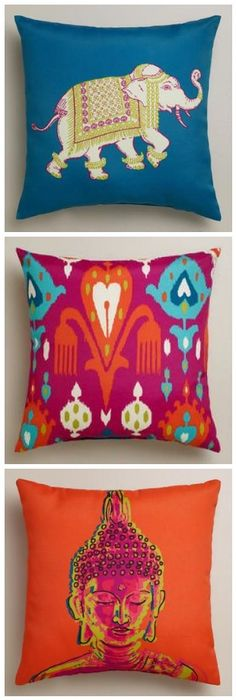 Colorful Outdoor Pillows from World Market